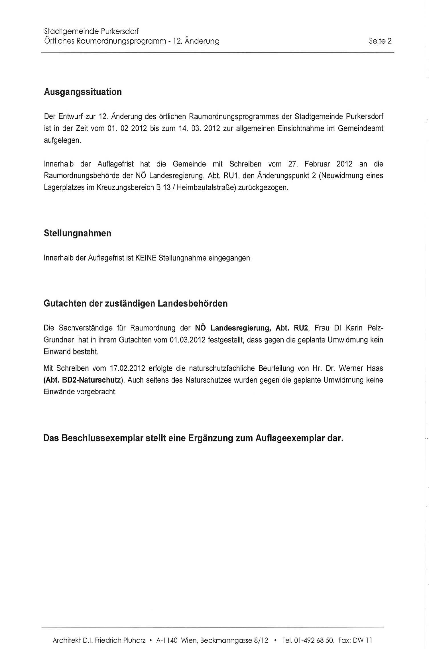 Purkersdorf: Protokoll Gemeinderatssitzung 27.3.2012